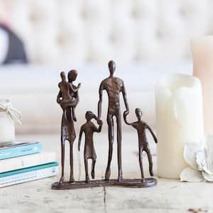 Family of 5 Bronze Sculpture