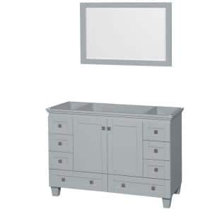 Acclaim 48 in. Vanity Cabinet with Mirror in Oyster Gray