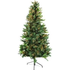 6 ft. Festive Camo Christmas Tree with Clear Lighting