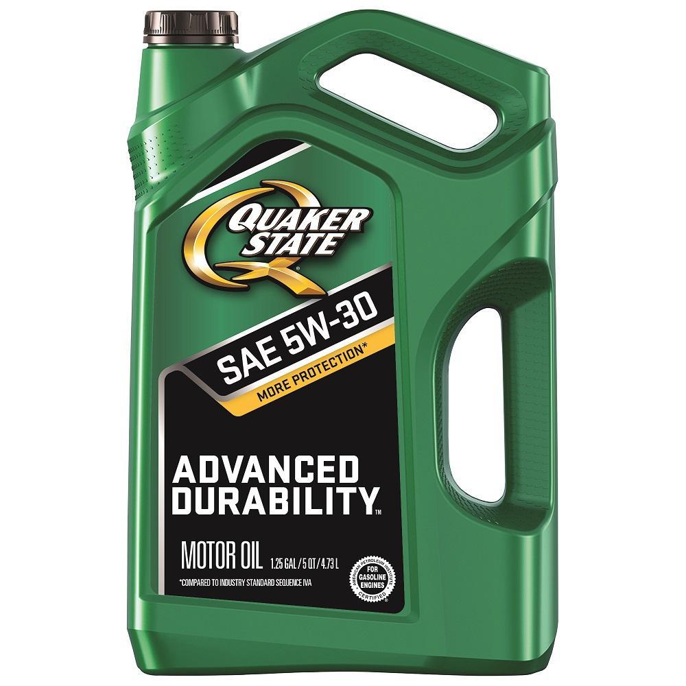 Quaker State Advanced Durability SAE 5W-30 Conventional Motor Oil - 5 Qt.