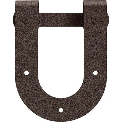1-1/2 in. x 8 in. x 10-3/4 in. Steel Premium Horseshoe Roller Hanger Moulding Copper Vein