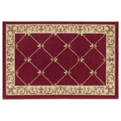 Sensation Red 2 ft. x 3 ft. Traditional Area Rug