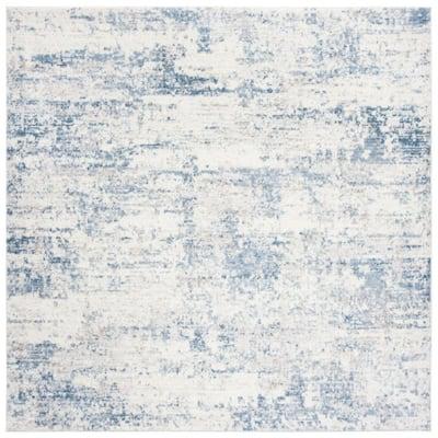 Amelia Ivory/Blue 9 ft. x 9 ft. Square Area Rug
