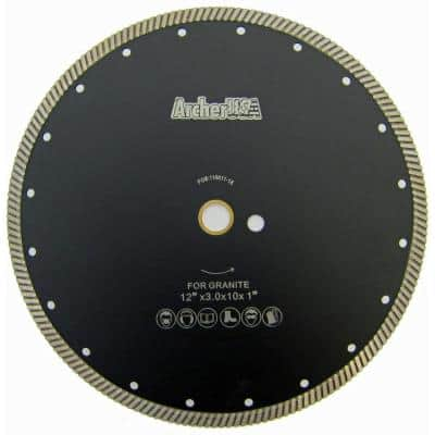 12 in. Narrow Turbo Diamond Blade for Granite Cutting
