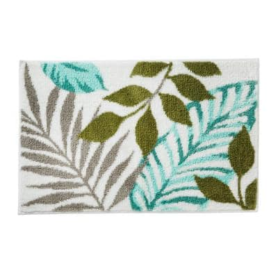 Sprouted Palm 20 in. x 30 in. Polyester Rug in Multi