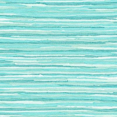 Cabana Turquoise Faux Grasscloth Paper Strippable Wallpaper (Covers 56.4 sq. ft.)