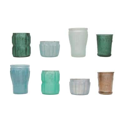 Multi Color Votive Candle Holders (Set of 8)