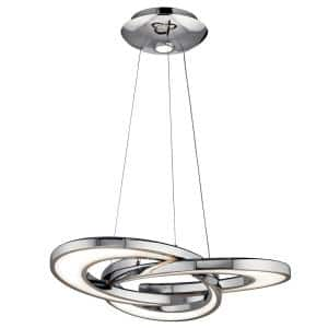 Elan Destiny 100-Watt Integrated LED Chrome Pendant