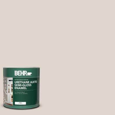 Behr 1 Qt N230 1 Castle Beige Semi Gloss Enamel Urethane Alkyd Interior Exterior Paint 390004 The Home Depot