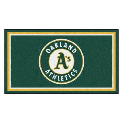 MLB - Oakland Athletics 3 ft. x 5 ft. Ultra Plush Area Rug