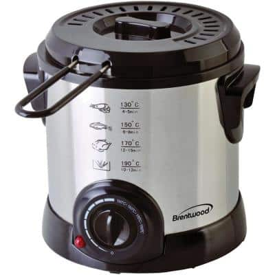 1.1 Qt. Stainless Steel Electric Deep Fryer