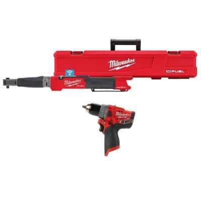 M12 FUEL One-Key 12-Volt Lithium-Ion Brushless Cordless 3/8 in. Digital Torque Wrench & 1/2 in. Hammer Drill (2-Tool)