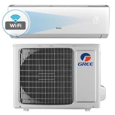 Livo 9,000 BTU 3/4 Ton Wi-Fi Programmable Ductless Mini Split Air Conditioner with Inverter, Heat, Remote - 115V/60Hz