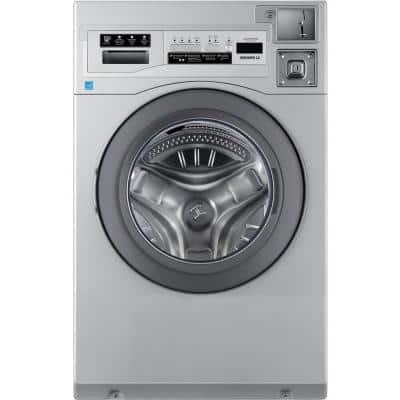 Commercial Laundry 27 in. 3.5 cu. ft. Grey Front Load Washing Machine, Coin Operated