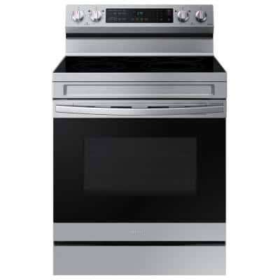6.3 cu. ft. Smart Freestanding Electric Range with Air Fry and Convection in Stainless Steel