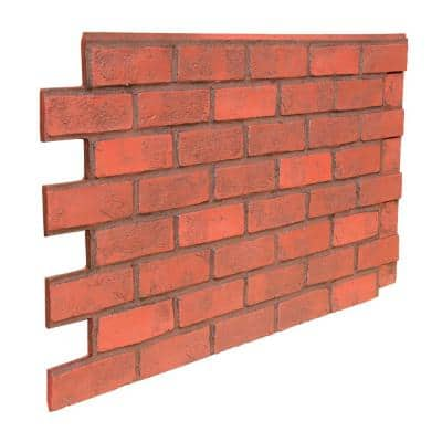 Faux Brick 43.5 in. x 23.75 in. Polyurethane Interlocking Siding Panel in Burnished Red