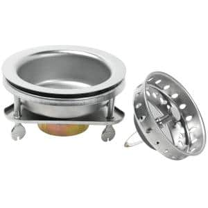 EZ-Lock Kitchen Sink Strainer - Stainless steel with polished finish