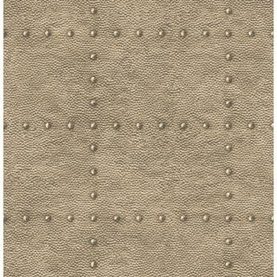 Upland Otto Bronze Hammered Metal Paper Strippable Wallpaper Roll (Covers 56.4 sq. ft.)