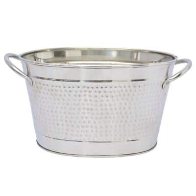 Oval Stainless Steel Small Beverage Tub with Built-in Handles