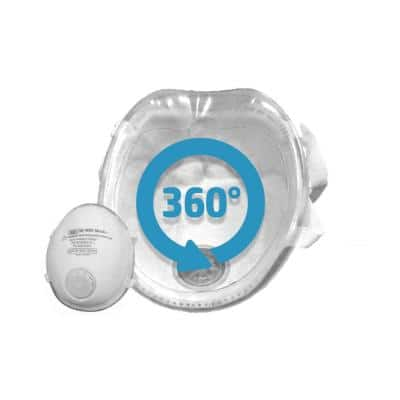 Silicon Molded L N95 Certified Respirator with CoolTech Valve (10-pack)