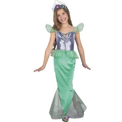 Disney Large Girls Ariel Little Mermaid Standard Kids Costume