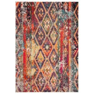 Monaco Purple/Orange 5 ft. 1 in. x 7 ft. 7 in. Area Rug