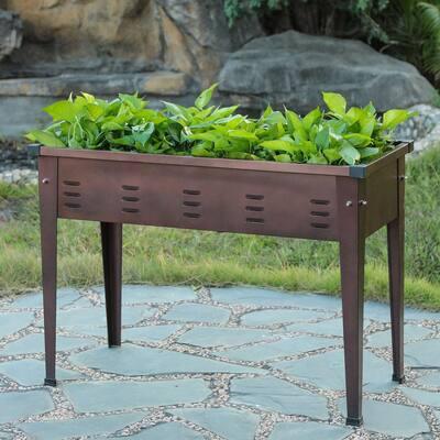 49.5 in. Metal Rectangular Raised Garden Planter