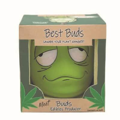 Ceramic Best Buds Pot Gift Box with Hemp Jute Hanger - Bud