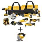 20-Volt MAX Cordless Combo Kit (9-Tool) with (2) 20-Volt 2.0Ah Batteries & Cordless Jigsaw