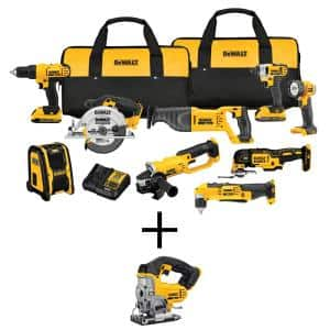 20-Volt MAX Cordless Combo Kit (9-Tool) with (2) 20-Volt 2.0Ah Batteries & Cordless Jigsaw