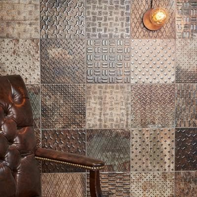 Joup Copper 9.84 in. x 9.84 in. Textured Porcelain Floor and Wall Tile (8.07 sq. ft./Case)