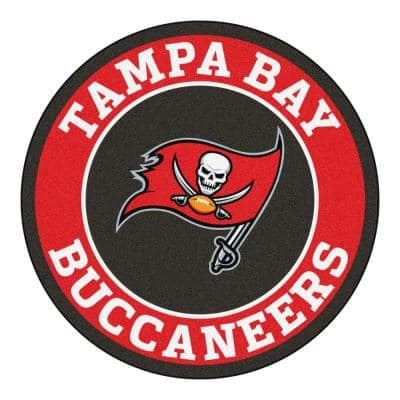 NFL Tampa Bay Buccaneers Red 2 ft. x 2 ft. Round Area Rug