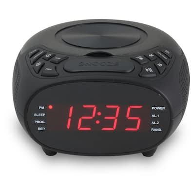 Dual Alarm Clock FM Radio with CD Player