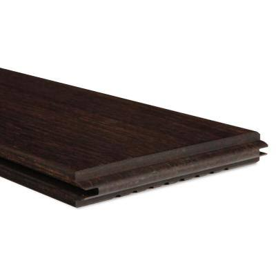 1 in. x 6 in. x 6 ft. Dasso Classic Espresso Fused Bamboo Grooved 2-Sides Decking (3-Pack)