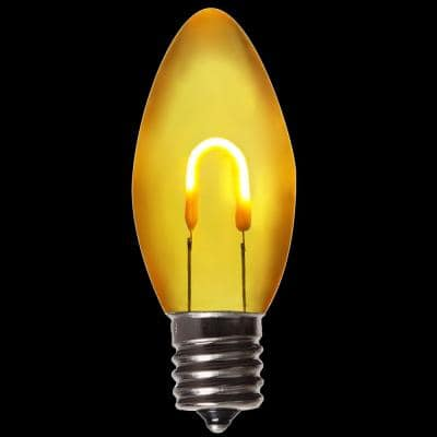 FlexFilament C9 LED Shatterproof Gold Vintage Edison Christmas Light Bulbs (5-Pack)