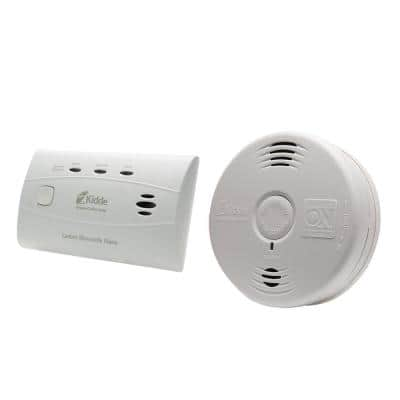 10 Year Worry-Free Home Fire Safety Kit, Battery Powered Smoke Detector with Voice Alarm & CO Detector