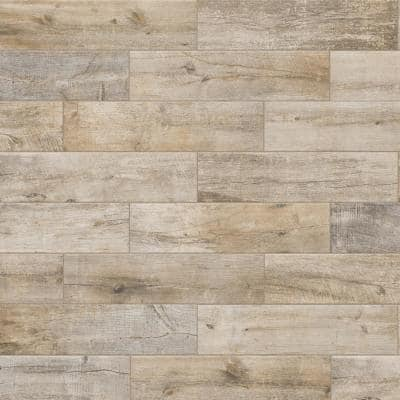 Sunset Wood Beige 6 in. x 24 in. Porcelain Floor and Wall Tile (14 sq. ft./Case)