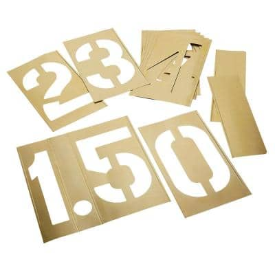 12 in. 13-Piece Stencil Numbers