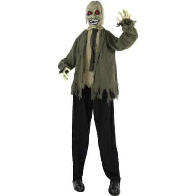 71 in. Touch Activated Animatronic Zombie