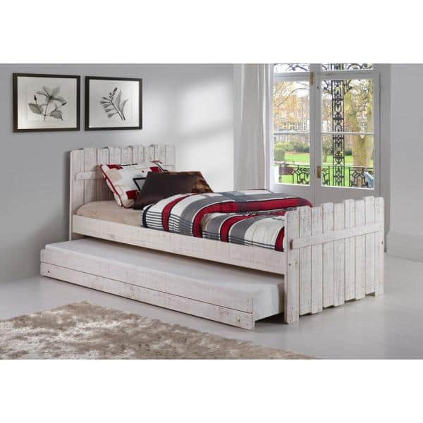 Donco Kids Rustic Sand Twin Tree House Bed with Trundle   The Home Depot