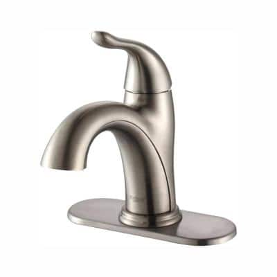 Arcus Single Hole Single-Handle Bathroom Faucet in Satin Nickel