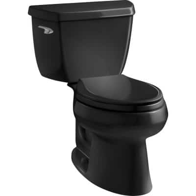 Wellworth Classic 2-piece 1.28 GPF Single Flush Elongated Toilet in Black