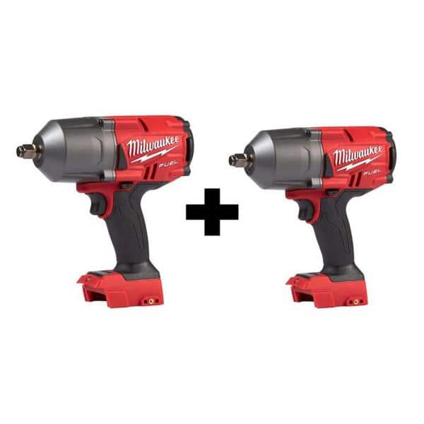 Milwaukee M18 FUEL 18-Volt Lithium-Ion Brushless Cordless 1/2 in. Impact Wrench with Friction Ring (2-Tool)   The Home Depot