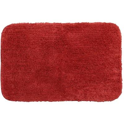 Duo Red 24 in. x 38 in. Nylon Machine Washable Bath Mat