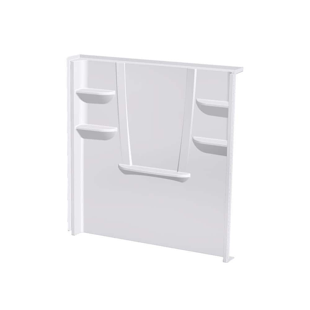 Aquatic A2 8 In X 60 In X 62 In 1 Piece Direct To Stud Shower Wall Panel In White 6062cbw Aw The Home Depot