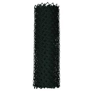 4 ft. x 50 ft. 9-Gauge Black Chain Link Fabric