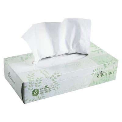 Envision White Facial Tissue 2-Ply (100 Sheets per Box)