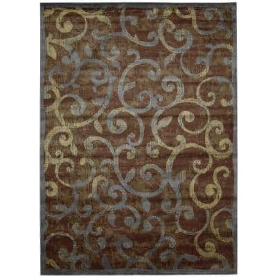 Expressions Multicolor 8 ft. x 11 ft. Trellis Modern Area Rug