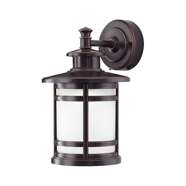 Home Decorators Collection Oil Rubbed, Motion Sensor Lantern Outdoor Light