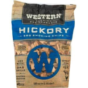 Premium BBQ 180 cu. in. Hickory Barbecue Grilling Smoking Wood Chips
